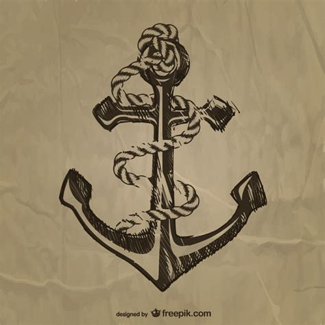 vintage anchor free vector free vectors ui download