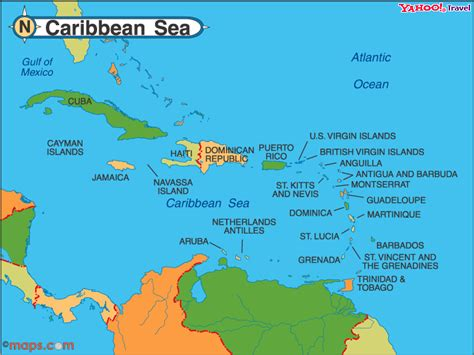 map of the caribbean islands atlantic and eastern pacific