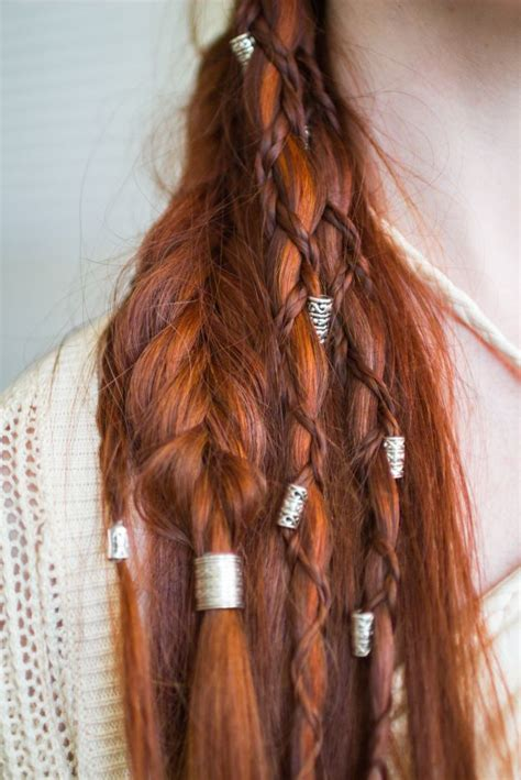 how to do viking hair viking hairstyle with braids and beads really cool
