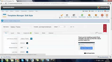 joomla template change how to change your joomla template background color youtube