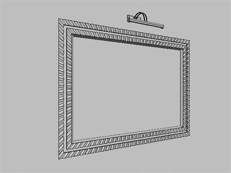 Picture Frame With Lighting Fixture Free 3d Model Max Picture Frame Light Fixtures