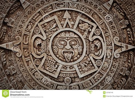 Ancient Calendars Mayan Calendar Royalty Free Stock Image Image 23782146