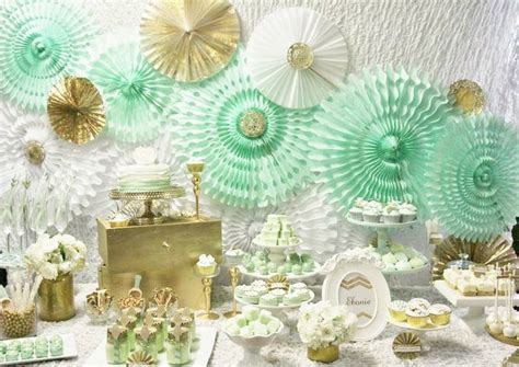 green gold decorations mint green gold wedding inspiration unique pastiche