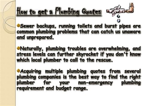 Plumbing Catch Phrases by Plumber Quotes