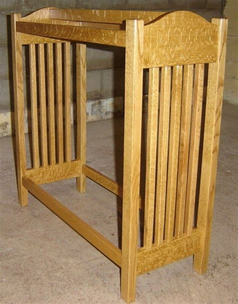 Oak Quilt Rack by Made New Solid Quarter Sawn Oak Wood Mission Style