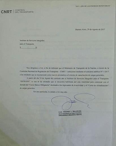 licencia nacional habilitante cnrt cursos de actualizacion lnh y cbo isitrans