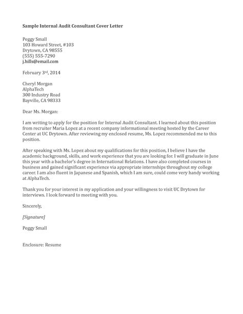 application letter sle cover letter sle internal