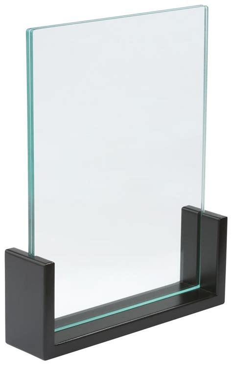 Acrylic Sign Holder 8 5 x 11 acrylic sign holder w bamboo base sided