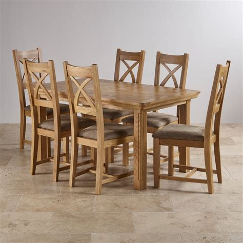 Canterbury Extending Dining Set Table 6 Sage Fabric Chairs Canterbury Oak Dining Table