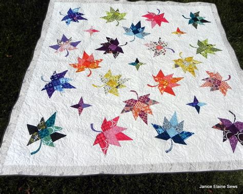 janice elaine sews autumn leaves quilt top is assembled