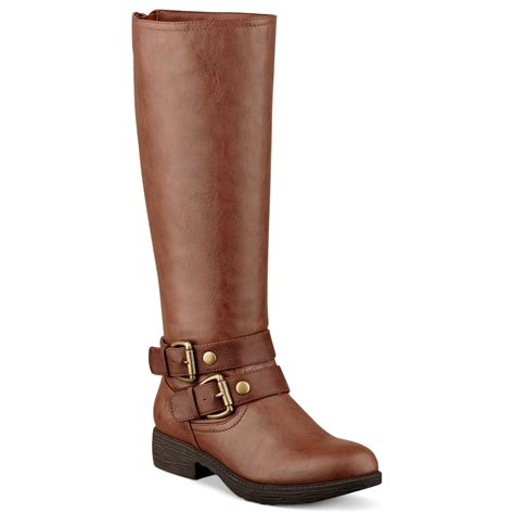 pink and pepper contra shaft zip back boots in brown