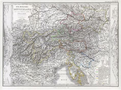 east germany map and antique prints and maps south east germany with
