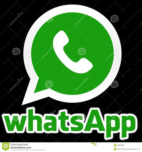 imagenes whatsapp negro whatsapp editorial stock image image 38285089
