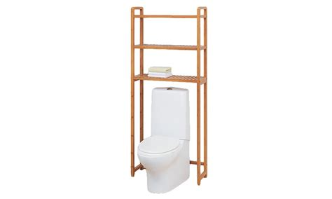 bamboo bathroom space saver bamboo over toilet space saver groupon goods