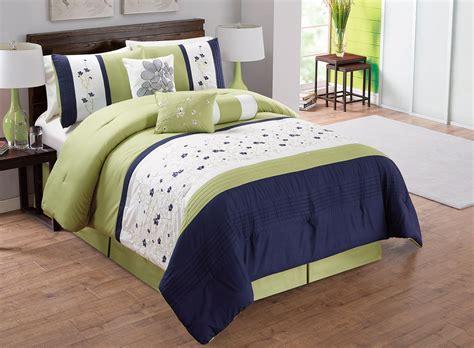 king size 7 comforter set ivory 7 ivory navy embroidered comforter set