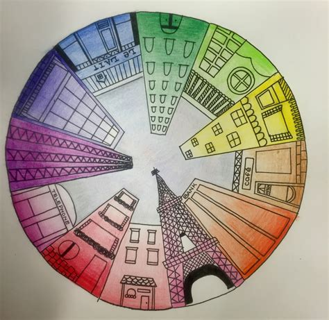 Objective Create A One Point Perspective Drawing Of Your | objective students will create a color wheel using one