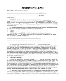 Apartment Rental Agreement Letter Sle Apartment Lease Agreements Sle 28 Images 16 Sle Lease Agreement Forms Sle Exle Format
