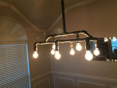 steunk desk l galvanized pipe light fixtures large industrial