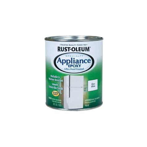 rust oleum specialty 1 qt white gloss appliance paint of 2 241168 the home depot