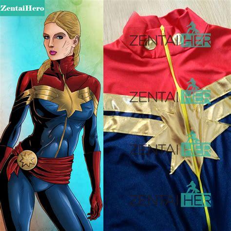 Costume Marvel Captain F766 zentaihero custom made ms captain marvel costume lycra carol danvers costume the