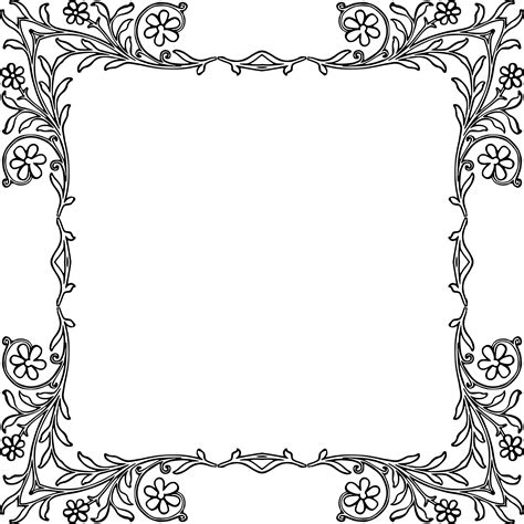 cornici vintage clipart flowery vintage frame 3