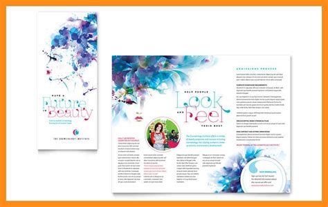 bank tri fold brochure template word publisher