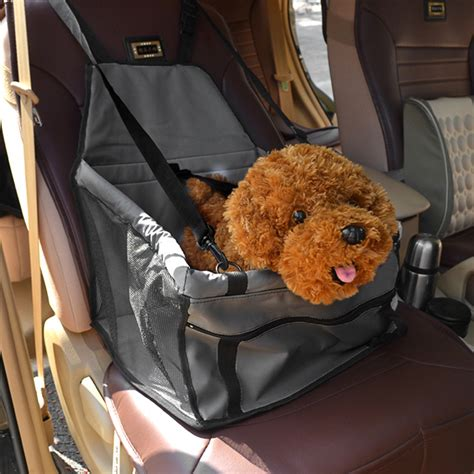 puppy car seat folding pet cat puppy car seat safety belt cover
