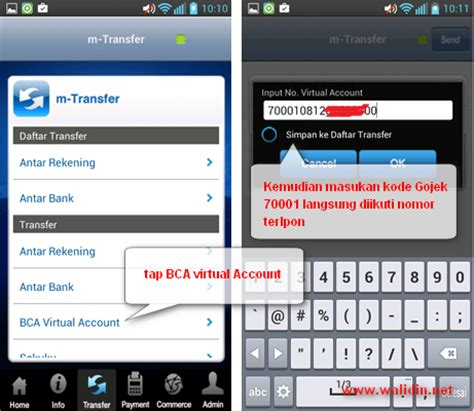bca virtual account gojek cara top up gojek lewat virtual account bca menggunakan
