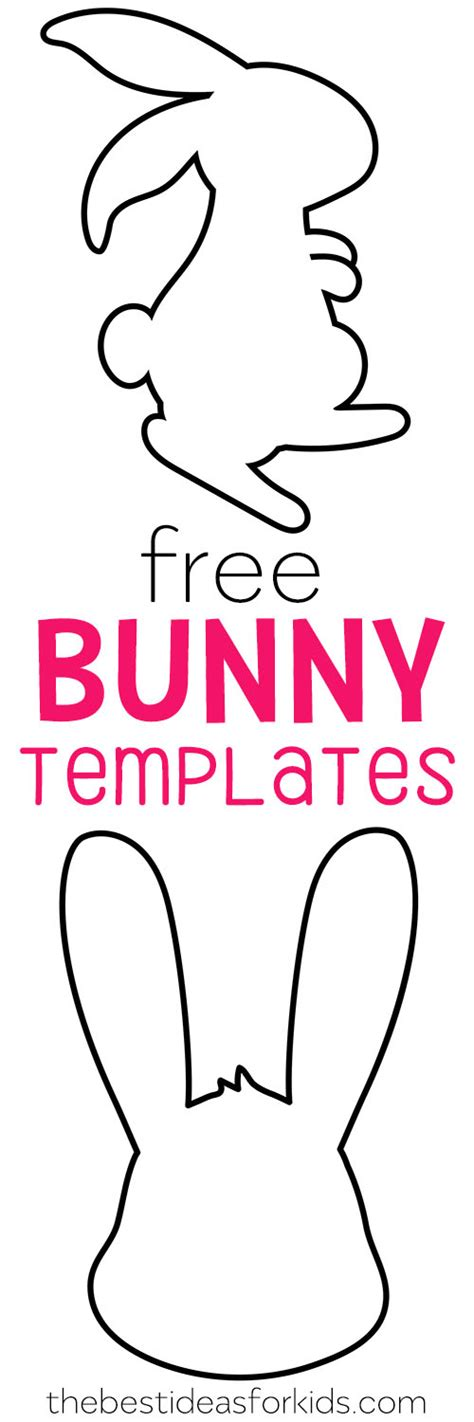 bunny rabbit templates free easter bunny template the best ideas for