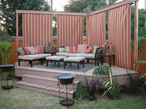 Exteriors : Beautiful Simple Deck Decorating Ideas For