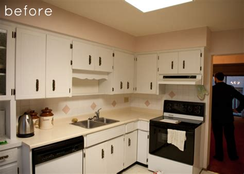 renovate old kitchen cabinets before after kitchen dining room redo design sponge
