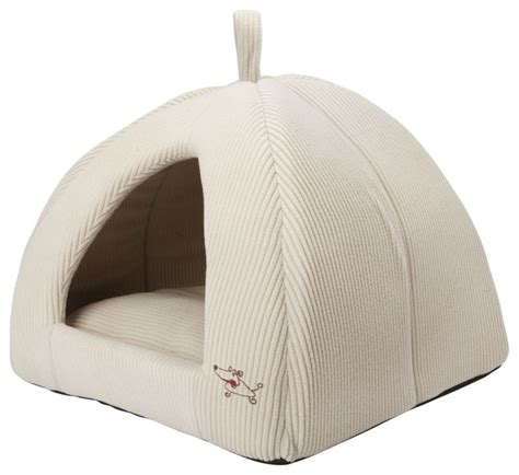dog tent bed beige medium size dog bed dome tent contemporary dog