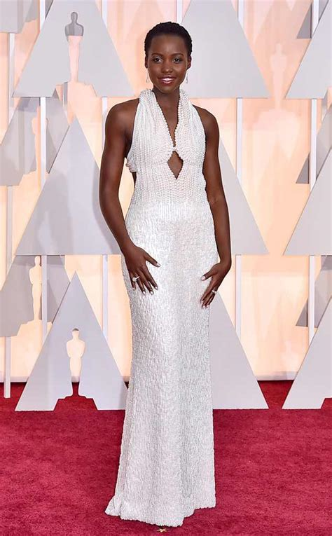 Oscars More Dress News by Lupita Nyong O Hits The 2015 Oscars Carpet In Pearl