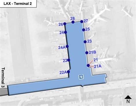 los angeles airport lax terminal 2 map