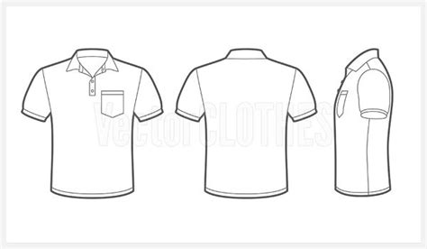 image for imgs for pocket t shirt template vector t