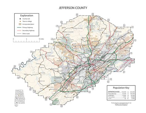 Jefferson County Records Pin Alabama Maps Counties On