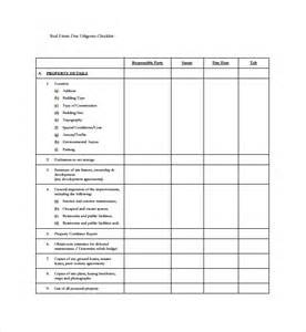 due diligence templates sle due diligence checklist template 8 free