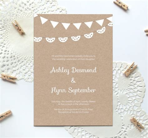 Printable Paper Invitations | free printable wedding invitation template