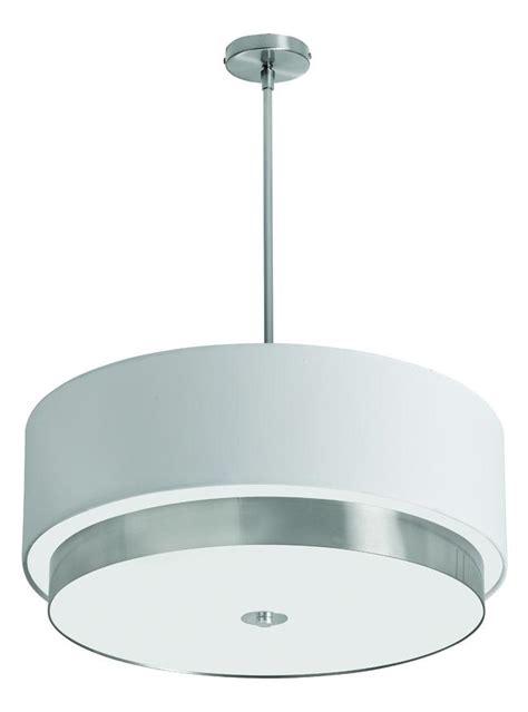 White Drum Shade Pendant Light Dainolite 4 Light Large Pendant With White Linen Drum Shade Satin Chrome Lar 204lp Sc From