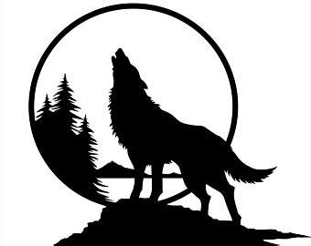 wolf wall decal | etsy