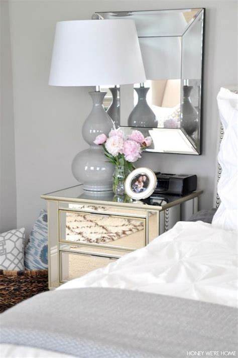 Grey Bedroom Stands Neutral Master Bedroom White And Gray Bedding Mirrors