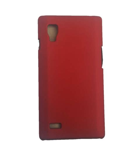 Optimus Maroon 1 coversncases maroon rubberized matte finish back