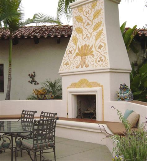 Mexican Chimney Mexican Style Outdoor Fireplace Design Beautiful Mexican