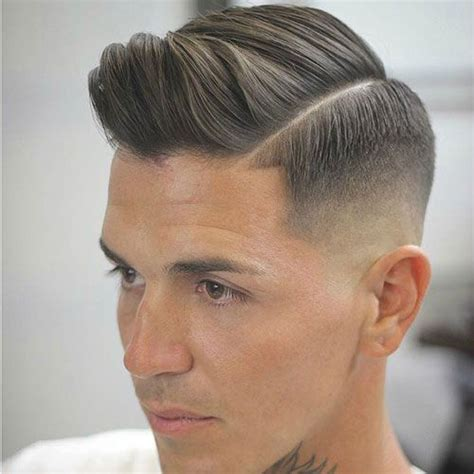 comb over hard part 30 fresh fashionable mens short back and sides haircuts