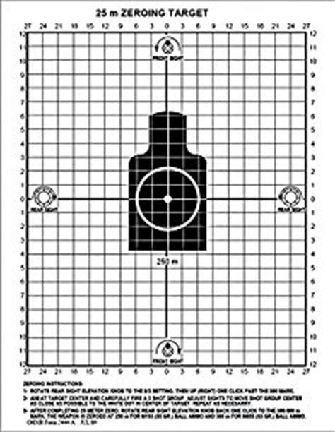 amazon.com : black rifle series 25 meter zero target