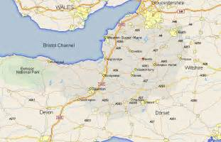 map and road maps of somerset uk