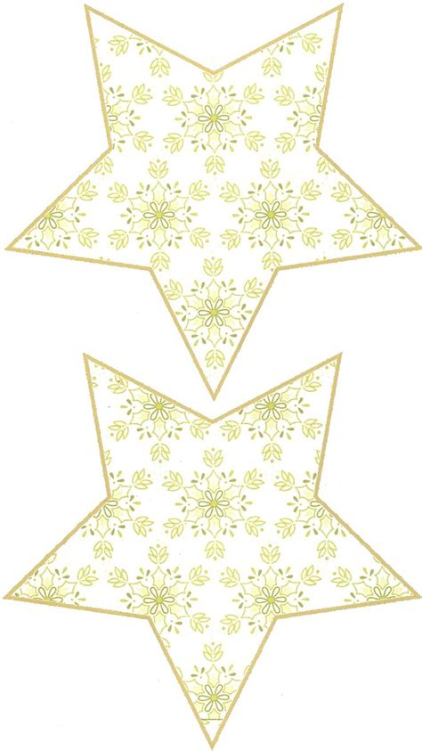 printable christmas star ornaments free printable patterns for making a 3d shabby chic 5
