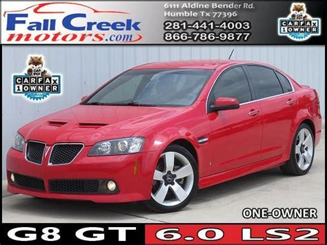 used pontiac g8 gt for sale pontiac g8 for sale in houston for sale