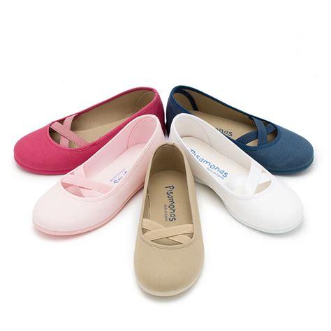 ballerine da casa ballerine per bambina in tela nastro incrociato scarpe