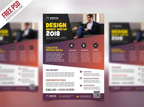 templates for conference flyer free psd conference announcement flyer psd template by